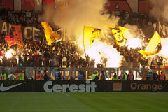 Dinamo Bucharest - Steaua Bucharest stockfotografie