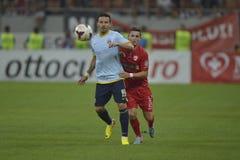 Dinamo Bukarest - Steaua Bukarest, rumänischer Fußball Derby Lizenzfreie Stockfotos