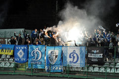 Dinamo fans harness fireworks Royalty Free Stock Photography