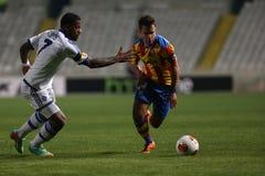 Dinamo Kiev tegen Valencia Royalty-vrije Stock Afbeelding