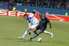 Dinamo Kyiv contro la città di Manchester Immagini Stock Libere da Diritti