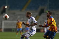 Dinamo Kyiv FC contro Valencia FC Fotografia Stock