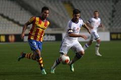 Dinamo Kyiv FC vs Valencia FC arkivfoto