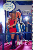 Dinamo Moscow fighter enters to ring Stock Images