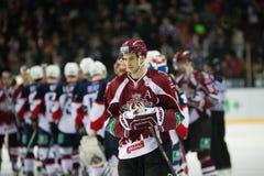 Dinamo Riga beat Slovan Bratislava 6-0 Royalty Free Stock Photo