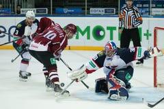 Dinamo Riga beat Slovan Bratislava 6-0 Stock Photos