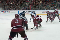 Dinamo Riga contre Dinamo Minsk photo stock