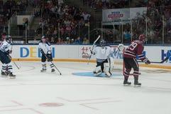 Dinamo Riga contre Dinamo Minsk Photographie stock libre de droits