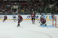 Dinamo Riga contre Dinamo Minsk Photographie stock