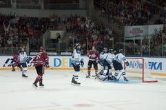 Dinamo Riga contre Dinamo Minsk Image stock