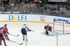 Dinamo Riga contre Dinamo Minsk Image libre de droits