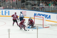 Dinamo Riga contre Dinamo Minsk photos stock