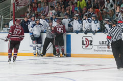 Dinamo Riga contre Dinamo Minsk photo libre de droits