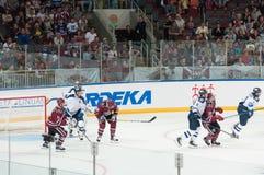 Dinamo Riga contre Dinamo Minsk Photos libres de droits