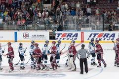 Dinamo Riga contre Dinamo Minsk Images libres de droits