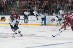 Dinamo Riga versus Dinamo Minsk Royalty-vrije Stock Foto's