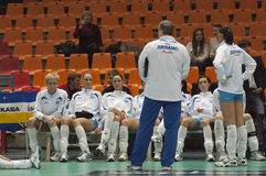Dinamo Russia. Coach Boris Kolchin stock photo