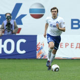 Dinamo's defender Aleksandr Epurjanu Royalty Free Stock Photography