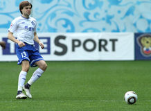 Dinamo's defender Vladimir Granat Stock Photography
