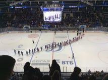 Dinamo Spartak hockey game in Moscow Royalty Free Stock Photos