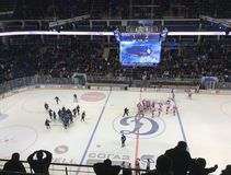 Dinamo Spartak hockey game in Moscow Stock Photography