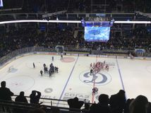 Dinamo Spartak hockey game in Moscow Royalty Free Stock Image