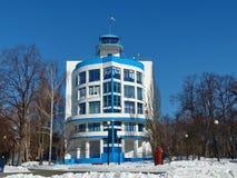 Dinamo stadium próbka konstruktywizm Budynków spojrzenia jak błękitny statek obrazy royalty free