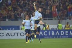 Dinamo - Steaua, celebrazione di Latovlevici Immagine Stock
