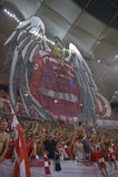 Dinamo - Steaua, coreografía 3D Imágenes de archivo libres de regalías