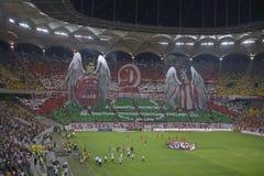 Dinamo - Steaua, coreografia 3D Immagine Stock Libera da Diritti