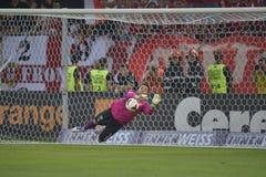 Dinamo - Steaua, intervento di Balgradean Fotografie Stock Libere da Diritti
