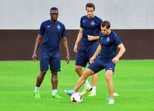 DINAMO TBILISI TRAINING BEFORE CL GAME AGAINST STEAUA BUCHAREST Stock Image