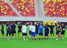DINAMO TBILISI TRAINING BEFORE CL GAME AGAINST STEAUA BUCHAREST Royalty Free Stock Image