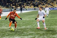Dinamo ucraina Kyiv - Šakhtar, d della partita di Premier League immagini stock libere da diritti