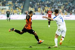 Dinamo ucraina Kyiv - Šakhtar, A della partita di Premier League fotografia stock