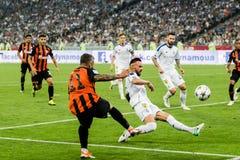 Dinamo ucraina Kyiv - Šakhtar, A della partita di Premier League fotografie stock
