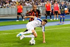 Dinamo ucraina Kyiv - Šakhtar, A della partita di Premier League fotografia stock libera da diritti