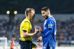Dinamo ucraina Kyiv - Šakhtar, m. della partita di Premier League fotografia stock libera da diritti