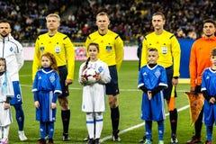 Dinamo ucraina Kyiv - Šakhtar, O della partita di Premier League Fotografie Stock Libere da Diritti