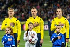 Dinamo ucraina Kyiv - Šakhtar, O della partita di Premier League Fotografia Stock