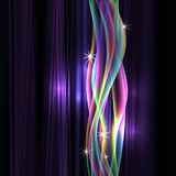 Dinamyc flow, stylized  waves, vector Royalty Free Stock Images