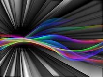 Dinamyc flow, stylized  waves, vector Stock Photos