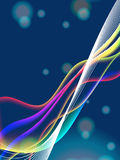 Dinamyc flow, stylized  waves, vector Stock Images