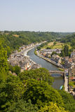 Dinan - aerial view Royalty Free Stock Photography