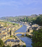 Dinan brittany. View over the estuary of the river rance the town of dinan cotes d'armor brittany france europe Stock Image