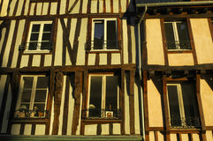 Dinan (Brittany): half-timbered buildings Stock Image