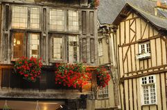Dinan (Brittany): half-timbered buildings Royalty Free Stock Photos