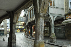 Dinan (Brittany): half-timbered buildings Stock Photography