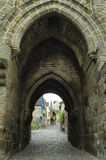 Dinan (Brittany): historic city Stock Photos