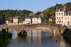 Dinan - Cotes Armor - Britain - France. View from Dinan - Cotes Armor - Britain - France Stock Photography
